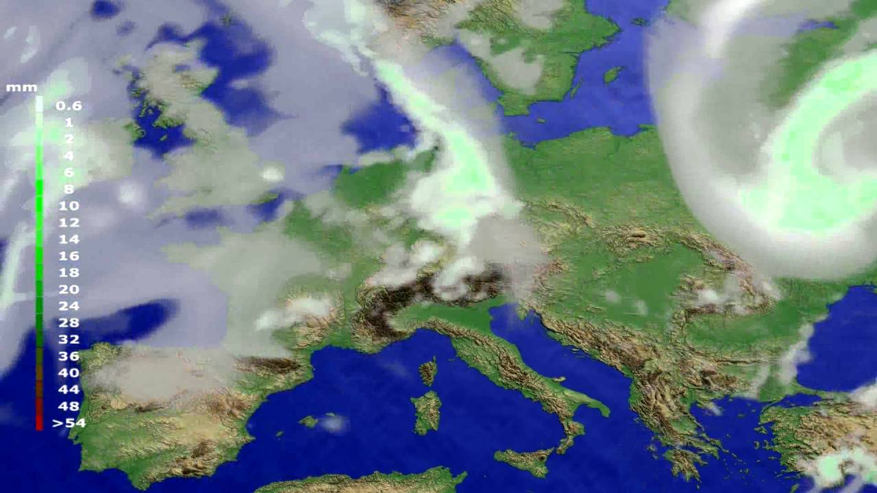 Precipitation forecast Europe 2016-07-19