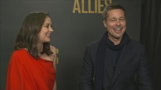 Nonton Brad Pitt And Marion Cotillard On  Love And Trust  In Allied Film Subtitle Indonesia Streaming Movie Download