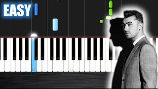 Sam Smith - Writing's On The Wall (from Spectre) - EASY Piano Tutorial