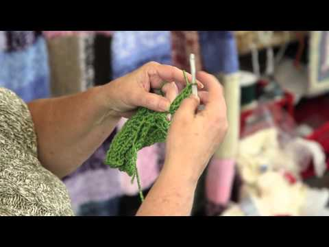 eHowArtsAndCrafts - Subscribe Now: http://www.youtube.com/subscription_center?add_user=ehowArtsandCrafts Watch More: http://www.youtube.com/ehowArtsandCrafts Crocheting a leafy,...