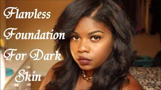 Full Face Foundation and Eyebrow Tutorial For Dark Skin - YouTube
