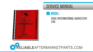 10. 2246 New International Harvester 244 254 Tractor Service Manual