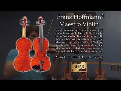 Video - Franz Hoffmann® Maestro Violin Outfit with TC66 Case - 3/4 size | SVB2WHZ34