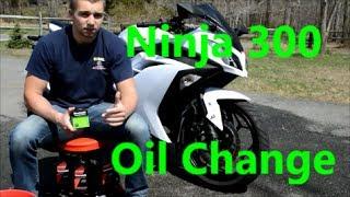 6. How To Change the Oil & Filter On The Kawasaki Ninja 300 2013 2014 2015