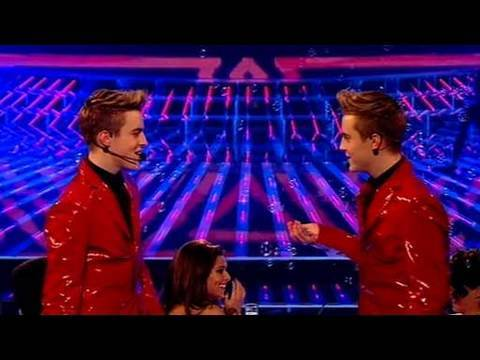 john and edward - The X Factor 2009: The choice of song has raised quite a few eyebrows, but can the twins really pull off Britney? See more at http://www.itv.com/xfactor.