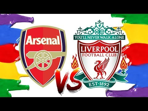 How To Draw And Color Arsenal VS Liverpool Logos Coloring Pages