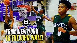 Jalen Lecque is the BOUNCIEST Guard in 2019! #TheJohnWall Highlights!
