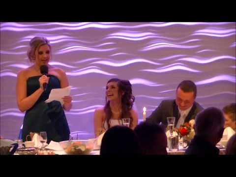 Funny maid of honor speech… Best friend's wedding.