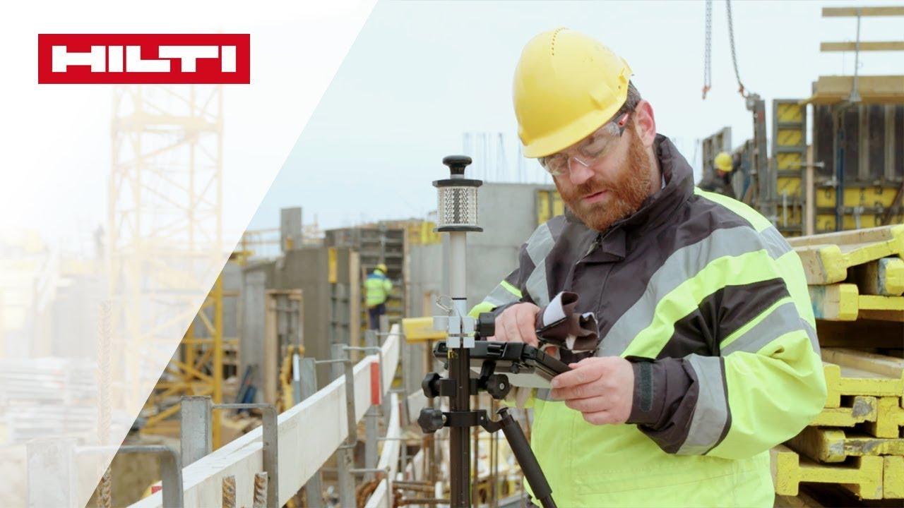 Construction Layout-Software für das PLC 400 Tablet von Hilti - Einfache Bedienung