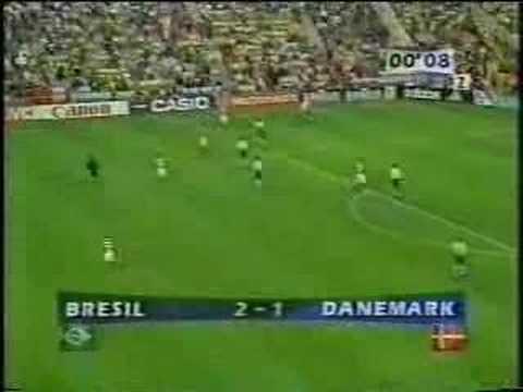 Brasil x Dinamarca Copa do Mundo 1998 Quartas de Final