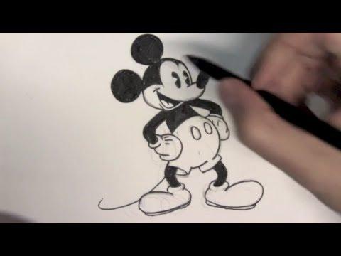 Wie zeichnet man Mickey Mouse – Online Zeichnen Lernen
