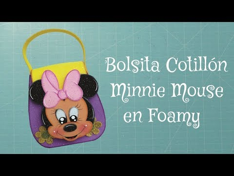 Cartera Minnie Mouse en Foami, Goma Eva, Microporoso