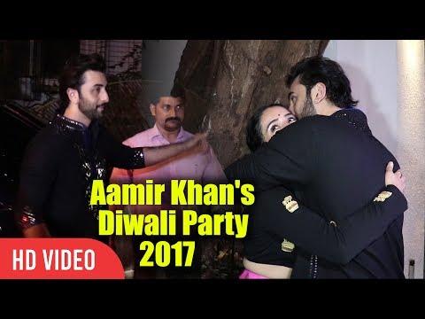 Ranbir Kapoor At Aamir Khan's Diwali Party 2017 | Viralbollywood