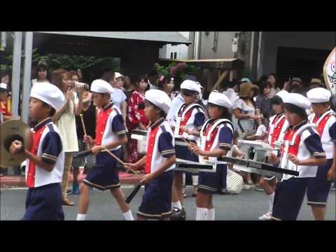 石巻川開まつり 小学校鼓笛隊パレード 開北小学校