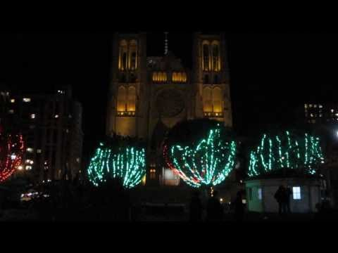 kevinsyoza - Tree Lighting Ceremony at Huntington Park and Grace Cathedral carillon bell music in the Nob Hill neighborhood of San Francisco. tree,lighting,ceremony,light...