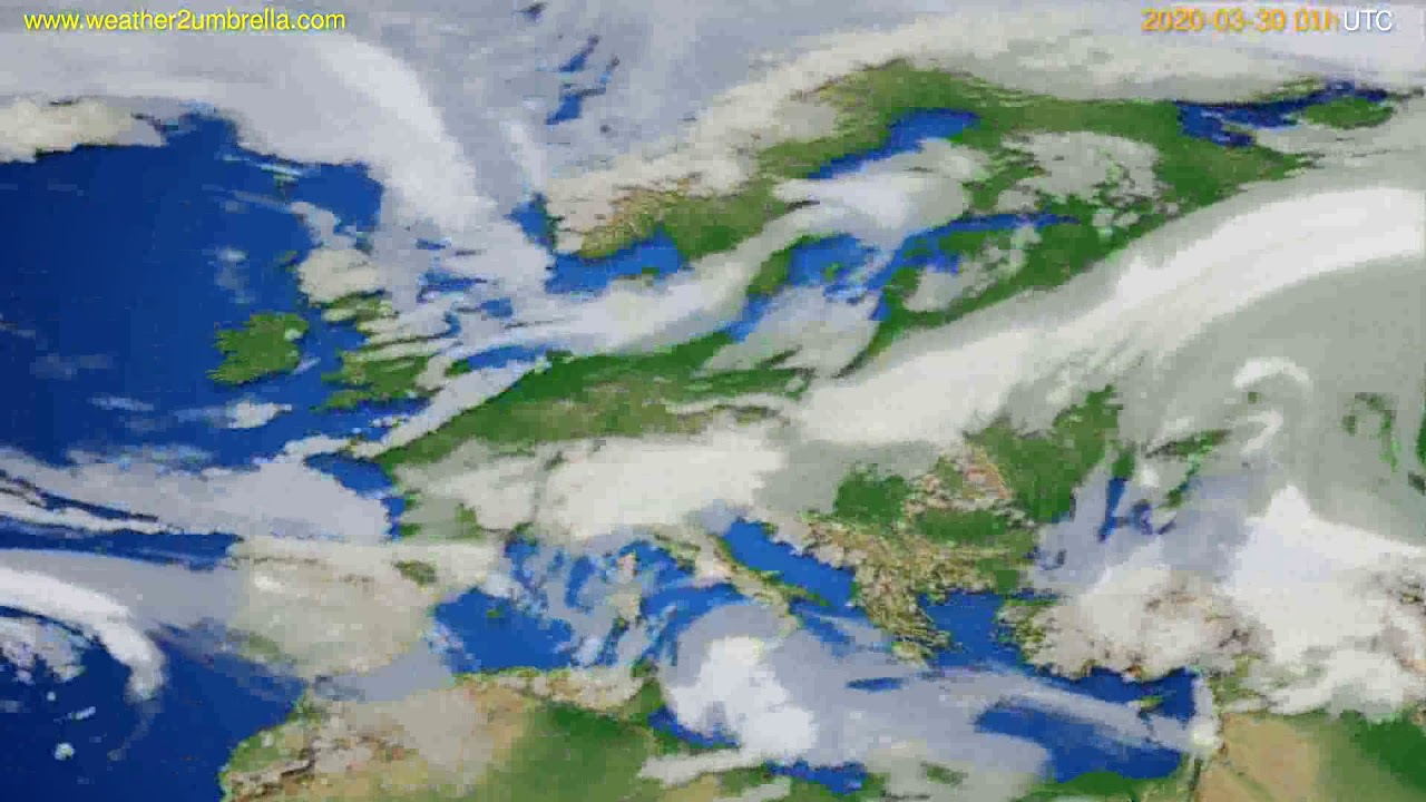 Cloud forecast Europe // modelrun: 12h UTC 2020-03-28