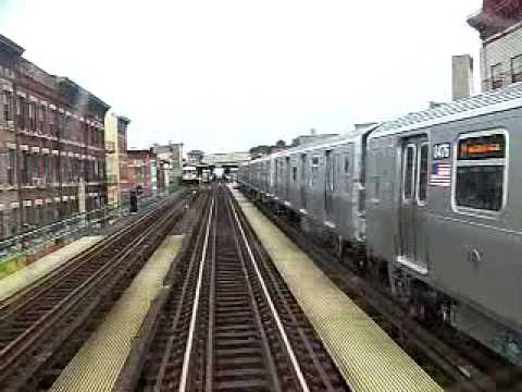 MustangFan424 - This is a video I took of a R42 J Train Chasing a R160 M Train into Myrtle Broadway. The R160 M was held by a red automatic upon entering the station.