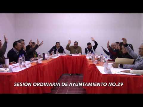 Sesión ordinaria No. 29 de Ayuntamiento  28 de enero de 2017