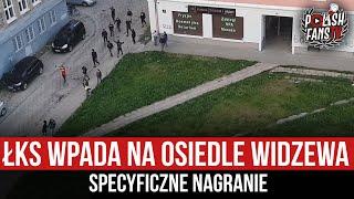 """""""Atak"""" dzieci s ŁKS na osiedle Widzewa Łódź"""