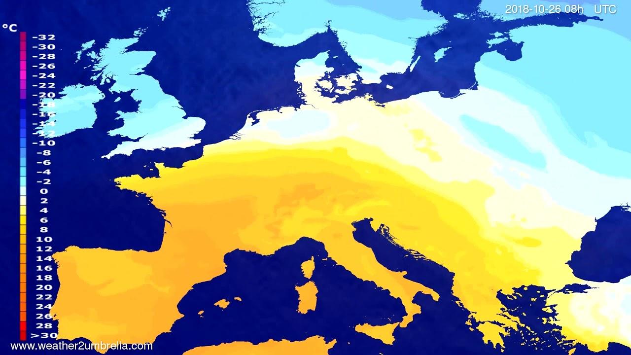 Temperature forecast Europe 2018-10-23