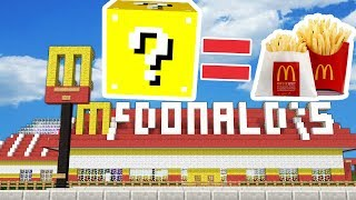 MCDONALDS LUCKY BLOCK MONEY HUNT - MINECRAFT LUCKY BLOCK MODDED MINIGAME