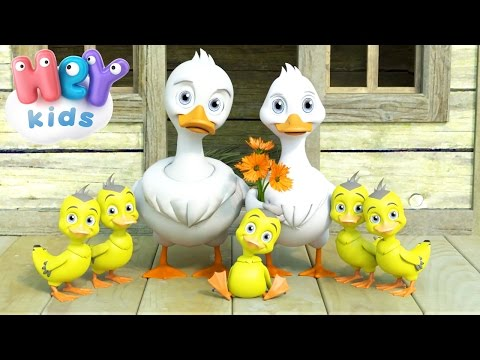 Five Little Ducks Went Out One Day - Nursery Rhymes by HeyKids (видео)