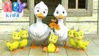 Video Five Little Ducks Went Out One Day - Nursery Rhymes by HeyKids MP3, 3GP, MP4, WEBM, AVI, FLV September 2018