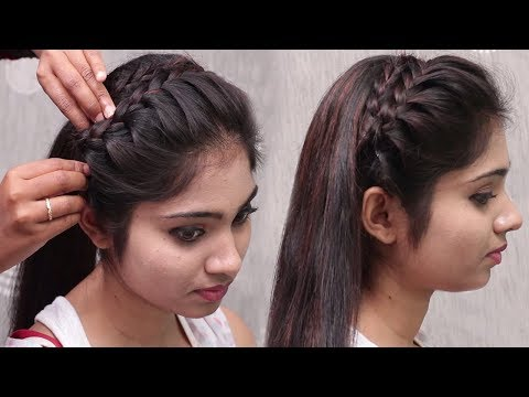 Braid hairstyles - Beautiful Side Braid Hairstyle for short hair  Hairstyle for short Hair  Girls hairstyles 2018