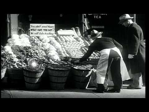 During The Great Depression, People Barter Their Things And Gather On Streets To ...HD Stock Footage