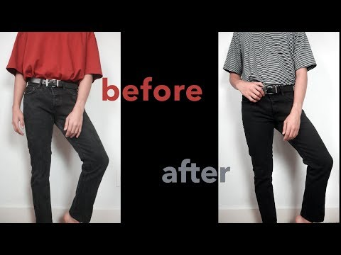 How To Dye Faded Jeans | BEST WAY 2018