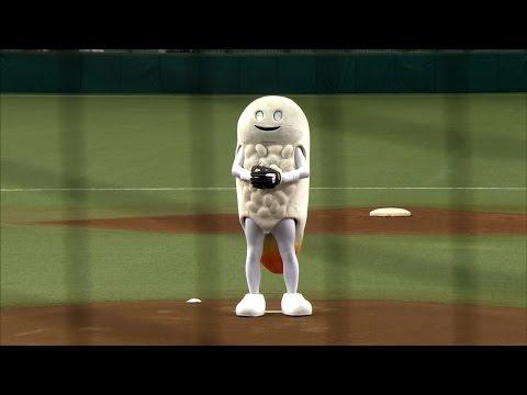 始球式にキモキャラ「ずーしーほっきー」出現!