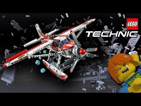 LEGO plane - slow motion