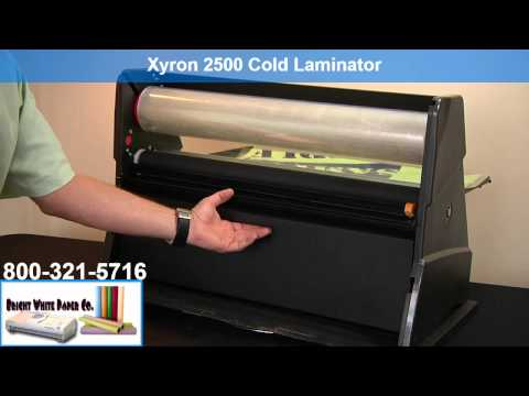 Demo-Xyron 2500 Cold Laminator benefits aka CoolLam, ProFInish, Variquest 2510