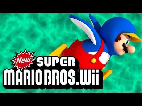 Super Mario Bros Wii #4 - PINGUIM!!!
