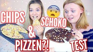CHIPS & SCHOKOLADEN PIZZA?! im TEST mit Julia Beautx I Meggyxoxo