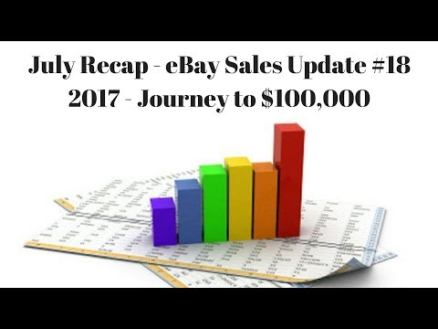 July Recap - eBay Sales Update #18 - My Journey to $100,000 in 2017 - LIVE