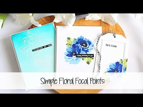 Short quotes - Simple Floral Focal Points  The Card Grotto