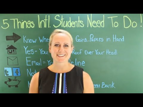 5 Things International Students Need To Do