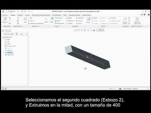 Tutorial CREO Parametrics & Simulate: Flexión de viga reforzada