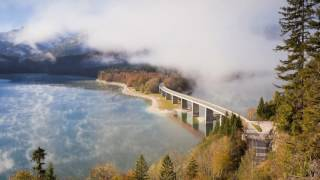 Nonton Timelapse Of Clouds Forming And Dispersing Above The Road Bridge Over Sylvenstein Lake  Germany Film Subtitle Indonesia Streaming Movie Download