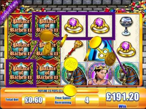 £213 MEGA BIG WIN (355 X STAKE) PALACE OF RICHES II™ JACKPOT PARTY ONLINE SLOTS