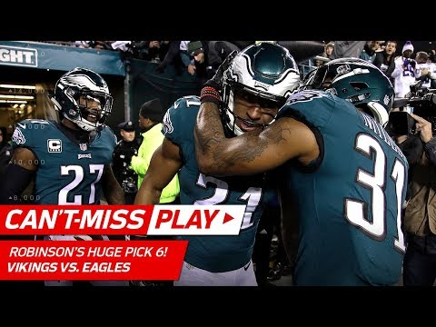 Video: Patrick Robinson's Huge Pick 6 Off Keenum's Pass! | Can't-Miss Play | NFC Championship HLs