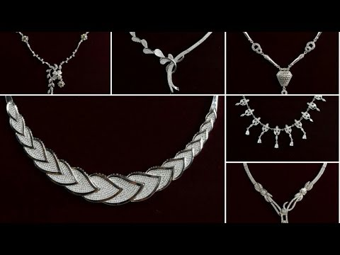 Beautiful silver necklace for women