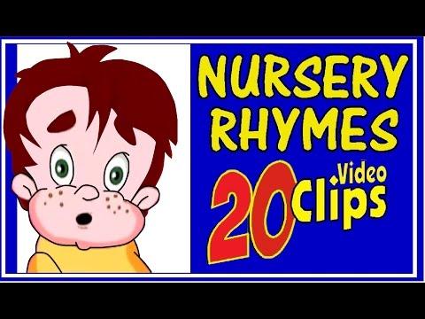 NURSERY RHYMES  - 20 Video Clips - KINDER SONGS