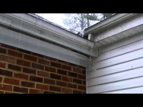 Heavy Rain - Water Coming Off Roof