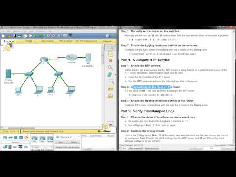 8.1.2.5 Packet Tracer - Configuring Syslog and NTP (видео)