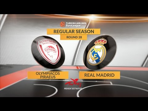 EuroLeague Highlights RS Round 28: Olympiacos Piraeus 73-79 Real Madrid
