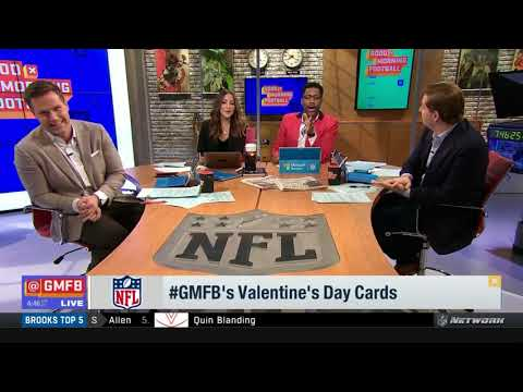 GMFB| 2/14| NFL Valentine's day cards...funny segment, must watch