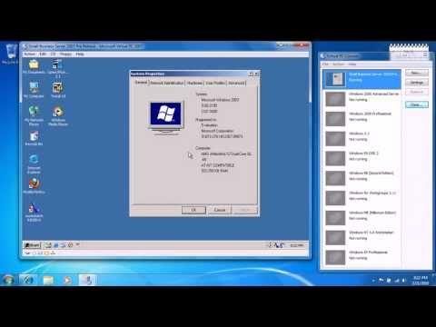 Small Business Server 2003 (Windows .net Server) (Pre-Release) in Microsoft Virtual PC 2007