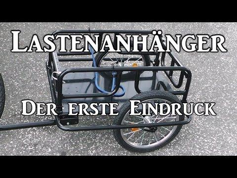 Fahrrad - Lastenanhänger Der erste Eindruck | FULL HD | Deutsch
